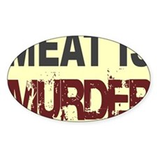 Meat Is Murder-yellow square Decal