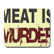 Meat Is Murder-yellow square Mousepad
