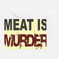Meat Is Murder-yellow square Greeting Card