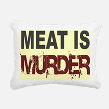 Meat Is Murder-yellow sq Rectangular Canvas Pillow