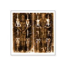 """Shroud of Turin - Full Leng Square Sticker 3"""" x 3"""""""