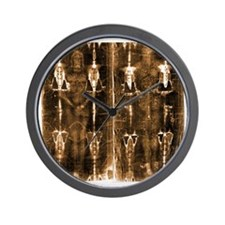 Shroud of Turin - Full Length Negative  Wall Clock