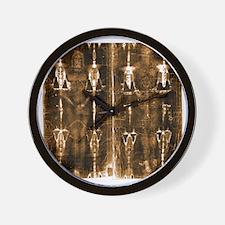 Shroud of Turin - Full Length Negative  Wall Clock
