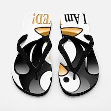 I Am Loved penguin Flip Flops