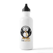 I Am Loved penguin Water Bottle