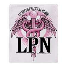 LPN-PINK-Caduceus Throw Blanket