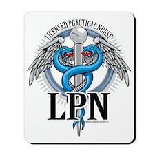 LPN-Caduceus-BLue Mousepad