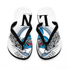 LPN-Caduceus-BLue Flip Flops