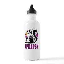 Epilepsy-Stinks-blk Sports Water Bottle
