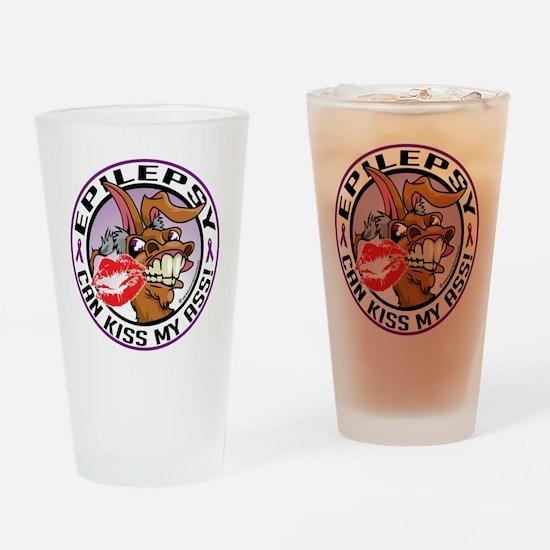 Epilepsy-Kiss-My-Ass Drinking Glass