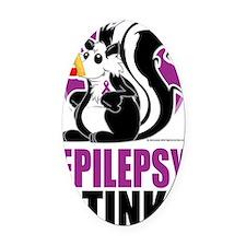 Epilepsy-Stinks Oval Car Magnet
