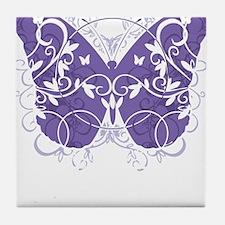 Epilepsy-Butterfly-blk Tile Coaster