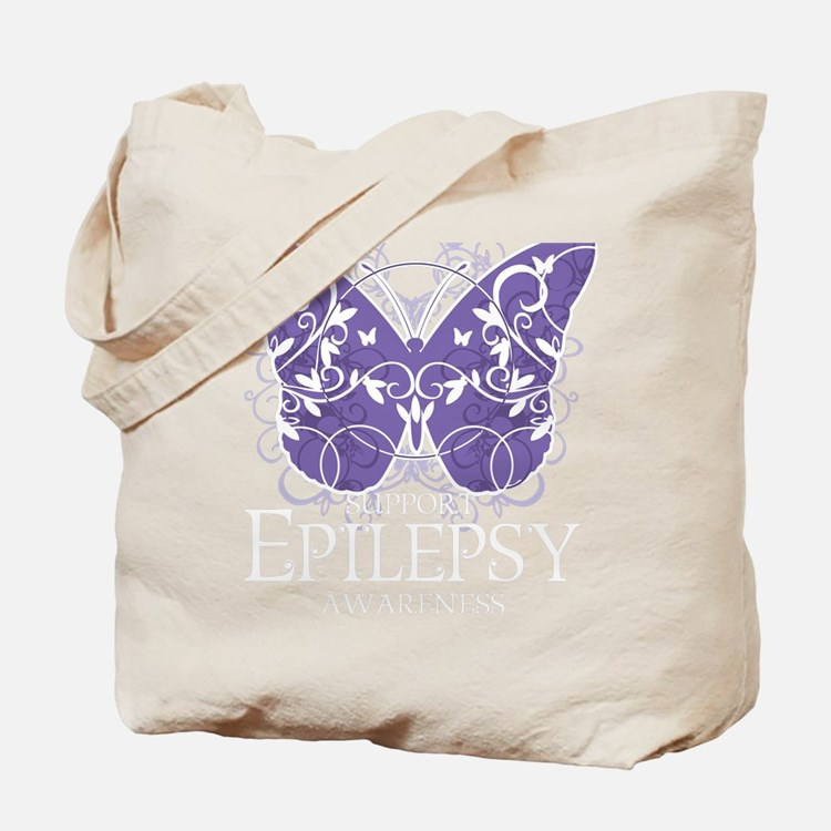 Epilepsy-Butterfly-blk Tote Bag