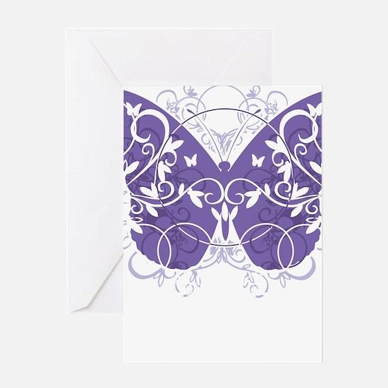 Epilepsy-Butterfly-blk Greeting Card