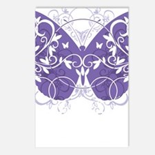 Epilepsy-Butterfly-blk Postcards (Package of 8)