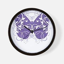 Epilepsy-Butterfly-blk Wall Clock