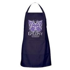 Epilepsy-Butterfly-blk Apron (dark)