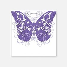 "Epilepsy-Butterfly-blk Square Sticker 3"" x 3"""