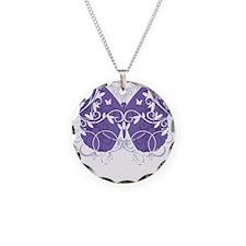 Epilepsy-Butterfly-blk Necklace