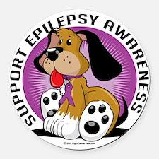 Epilepsy-Dog Round Car Magnet