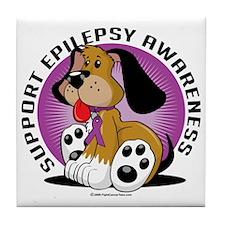 Epilepsy-Dog Tile Coaster