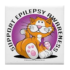 Epilepsy-Cat Tile Coaster