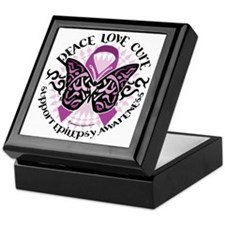 Epilepsy-Butterfly-Tribal-2 Keepsake Box