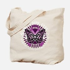 Epilepsy-Butterfly-Tribal-2-blk Tote Bag