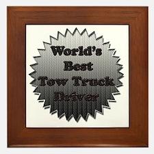 Worlds best tow truck driver copy Framed Tile