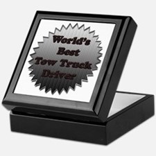 Worlds best tow truck driver copy Keepsake Box