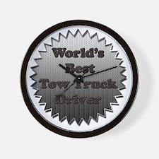 Worlds best tow truck driver copy Wall Clock