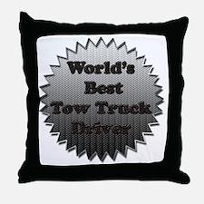Worlds best tow truck driver copy Throw Pillow