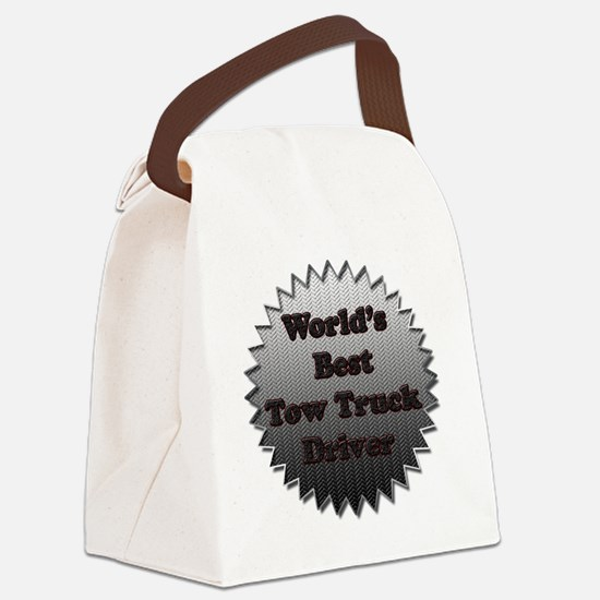 Worlds best tow truck driver copy Canvas Lunch Bag