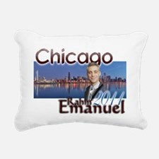 rahm emmanuel Rectangular Canvas Pillow