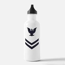 USCG-Rank-PO2-Crow-Whi Water Bottle