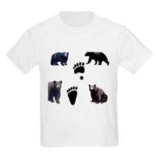 Black Bears and Tracks Kids T-Shirt