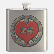 peace heart and 25 copy copy Flask