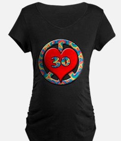 peace heart and 30copy T-Shirt