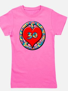 peace heart and 30copy Girl's Tee