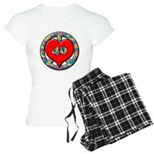 peace heart and 40 copy Pajamas