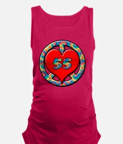 peace heart and 55 copy Maternity Tank Top