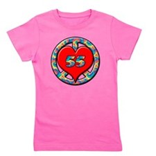 peace heart and 55 copy Girl's Tee