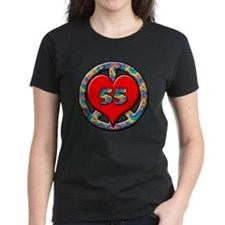 peace heart and 55 copy Tee