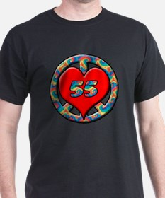 peace heart and 55 copy T-Shirt