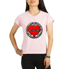 peace heart and Teaching c Performance Dry T-Shirt