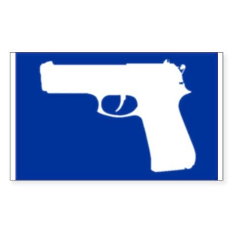 Gun Rectangle Sticker