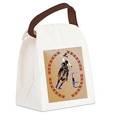 Barrel Horse-Circle Canvas Lunch Bag