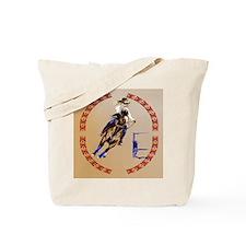 Barrel Horse-Circle Tote Bag