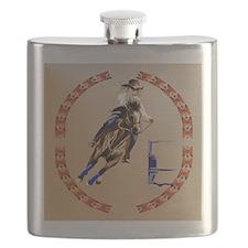 Barrel Horse-Circle Flask