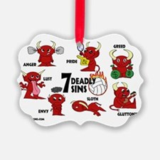 7deadlysinsvolleyball Ornament